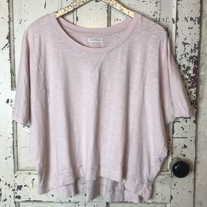 Whistles blush oversized boxy crop top